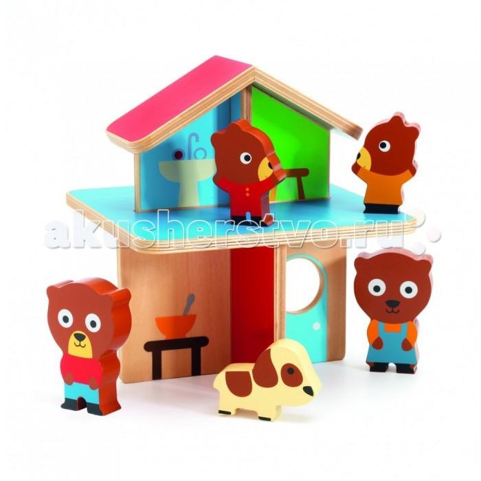 игры и игрушки для детской Деревянные игрушки Djeco Мини-дом