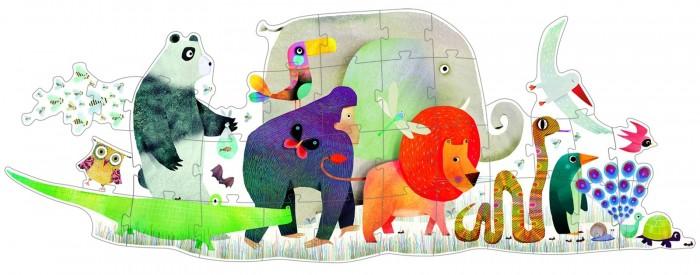 Пазлы Djeco Пазл – гигант Животные djeco магнитный пазл забавные животные djeco
