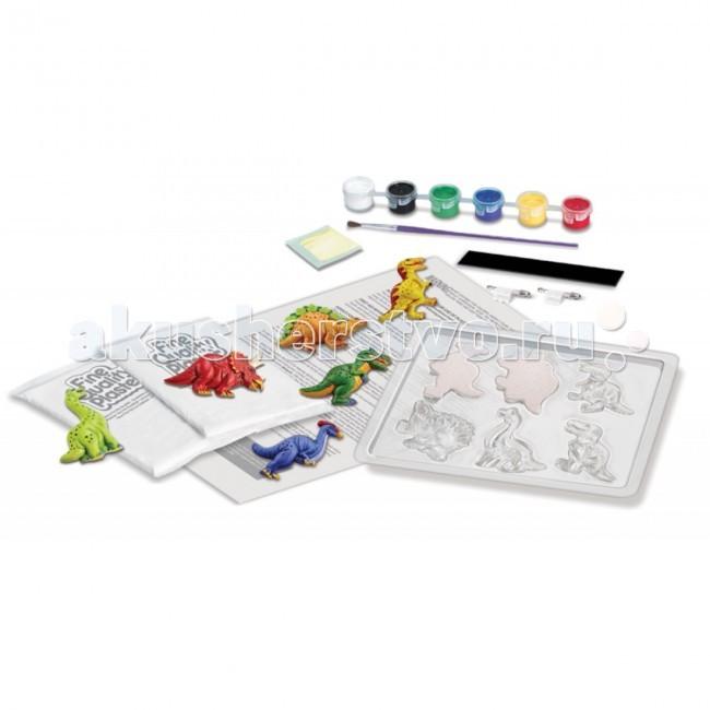 Наборы для творчества 4М Фигурки из формочки Динозавры 00-03514 набор для творчества 4m фигурки из формочки динозавры от 5 лет 00 03514