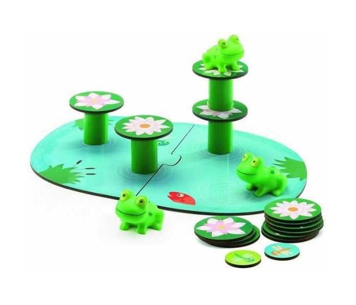 Игры для малышей Djeco Настольная игра Лягушачий балансир настольные игры djeco настольная карточная игра занимач