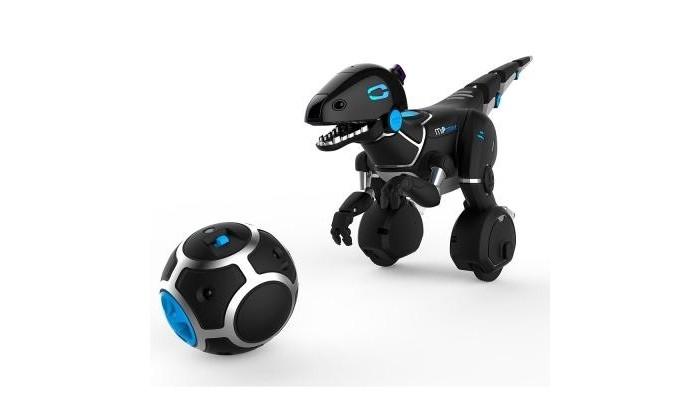Интерактивная игрушка Wowwee Робот Мипозавр 0890Робот Мипозавр 0890Интерактивная игрушка Wowwee Робот Мипозавр 0890 - интерактивный робот Miposaur от компании WowWee передвигается, балансируя на двух колёсах. Miposaur имеет три основных настроения: любопытно, взволнован и раздражён. В зависимости от его настроения, он будет по-разному реагировать. Управлять Мипозавром можно жестами, Трекболом (игрушка - шар в комплекте) или при помощи Miposaur приложения, установленного на ваш смартфон или планшет. Для этого достаточно установить на устройство бесплатное приложение от компании производителя в App Store или Google play и запустить его. Устройства Apple должны работать на iOS 8 или выше. Android устройства должны иметь версию прошивки от Android 4.4.  Управление Трекболом Трекбол™ включает 6 различных режимов игры: поводок, мячик, пища, плюшевый мишка, танцы и битбокс. Каждый режим игры представлен своим цветом. Чтобы активировать Трекбол, установите переключатель вправо и смотрите как загораются синие светодиоды.  Управление жестами Робот Wow Wee Miposaur реагирует на различные жесты руки и хлопки, проявляя различную реакцию в зависимости от своего настроения. Робот может быть любопытен, оживлен, или сердит, на его спине находится индикатор настроения, который сигнализирует, в каком настроении Мипозавр. Перед началом игры убедитесь, что робот себя сбалансировал.  Особенности: Комплектация: робот, трекбол, инструкция; Элементы питания: 4 батарейки типа АА + 4 батарейки ААА (в комплект не входят); Материал: высококачественная пластмасса; Размер: 200 x 480 x 250 мм; Цвет: черный Возраст: от 8 лет.<br>