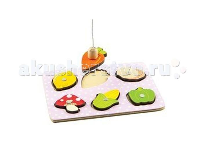 Деревянные игрушки Mapacha Игра-рыбалка Овощи
