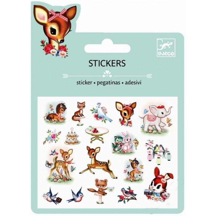 Детские наклейки Djeco Наклейки Животные винтаж животные антистресс альбом