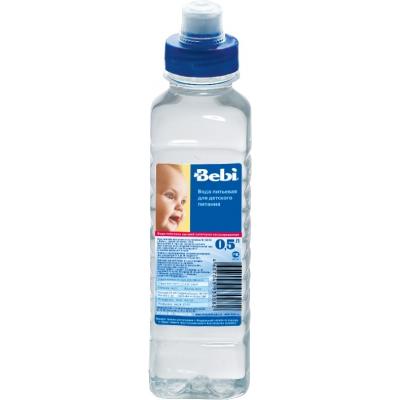 Фото Вода Bebi Вода детская питьевая Sport Cap с 0 мес. 0.5 л