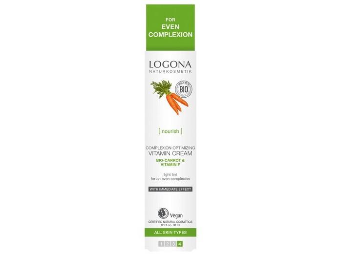 Косметика для мамы Logona Витаминный крем для улучшения цвета лица с Био-Морковью и витамином F оздоровительная косметика венозол крем при варикозе