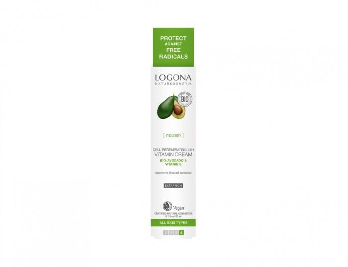 Товары для мамы , Косметика для мамы Logona Витаминный крем для клеточного восстановления кожи 24 ч с Био-Авокадо и витамином Е арт: 432794 -  Косметика для мамы