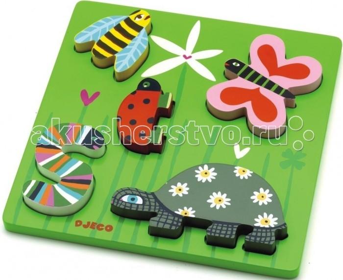 Деревянные игрушки Djeco Рамка-вкладыш Кими пазлы бомик вкладыш бабочки