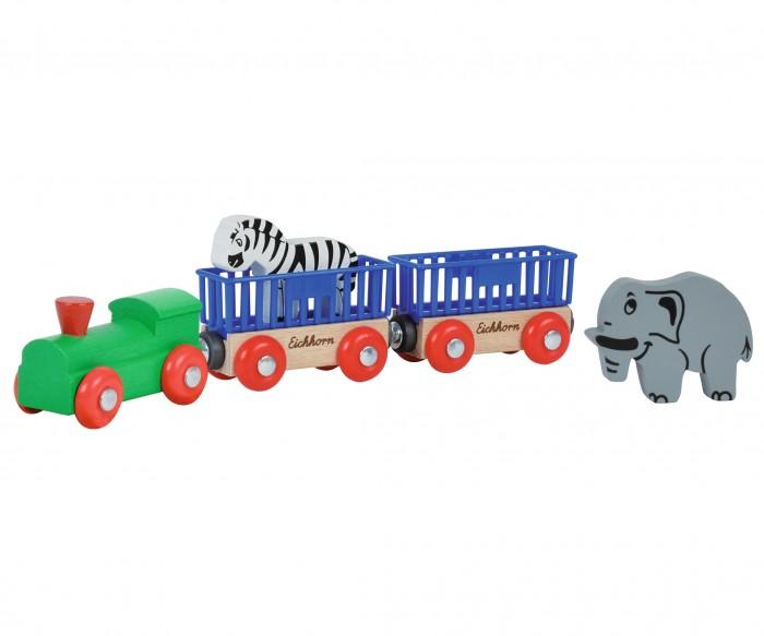 Железные дороги Eichhorn Поезд с 2 вагонами и животными ботинки со скидкой в интернет магазинах