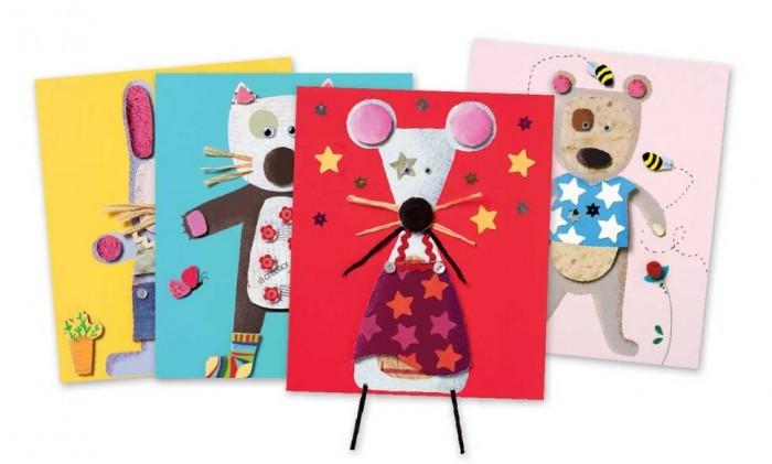 Наборы для творчества Djeco Набор для творчества Аппликация для малышей набор для детского творчества набор веселая кондитерская 1 кг