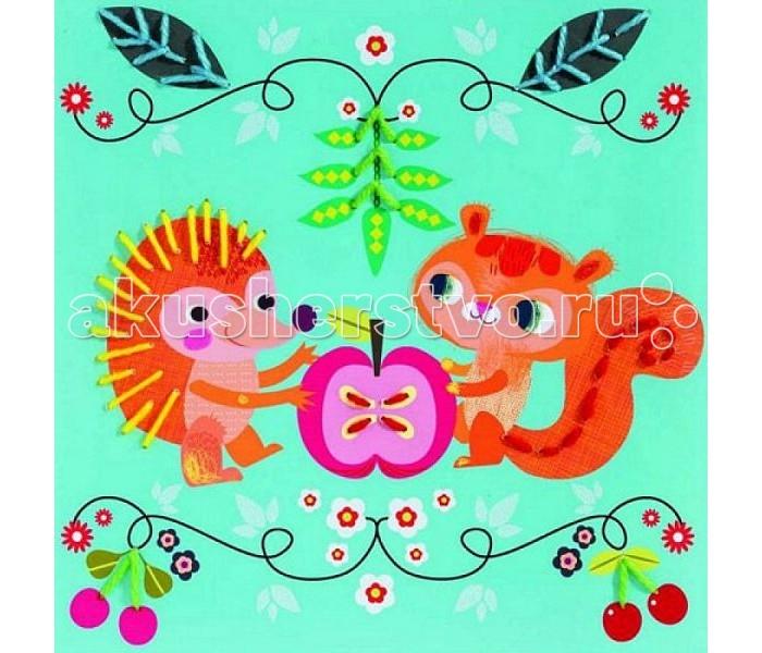 Наборы для творчества Djeco Набор для творчества Маленькие друзья набор для творчества ranok картинки из блесток бабочка