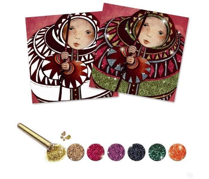 Наборы для творчества Djeco Набор для творчества с блестками Золото и шелк набор для творчества ranok картинки из блесток бабочка