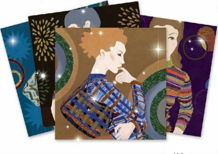 Наборы для творчества Djeco Набор для творчества с блестками Мода наборы для творчества djeco раскраска вечерние платья