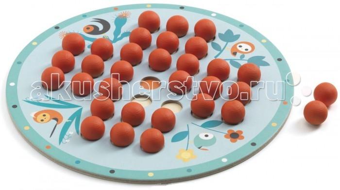 Игры для малышей Djeco Настольная игра Солитер 05213 игры для малышей djeco детская настольная карточная игра мини семья