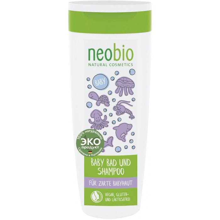 Косметика для новорожденных Neobio Детский шампунь-гель для волос и тела с Био-алоэ и Био-календулой шампунь гель детский для волос и тела с календулой weleda calendula baby wash