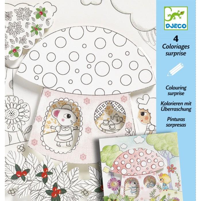 Раскраски Djeco Набор для творчества Дюймовочка набор для творчества ranok картинки из блесток бабочка