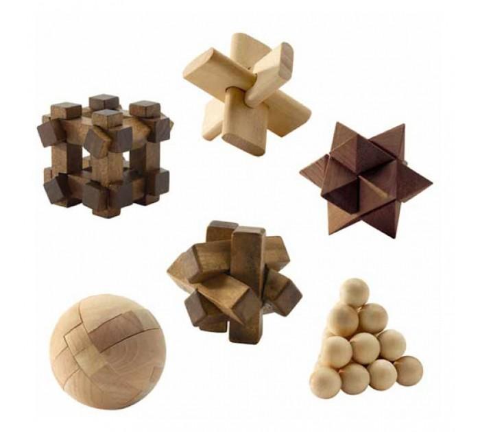 Djeco Набор детских игрушек Деревянные головоломки от Djeco