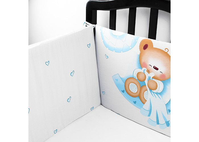Постельные принадлежности , Бортики в кроватку Idea Kids Boy арт: 433599 -  Бортики в кроватку