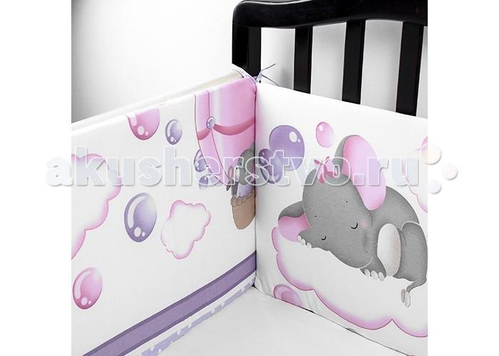 Постельные принадлежности , Бортики в кроватку Idea Kids Слоники арт: 433614 -  Бортики в кроватку