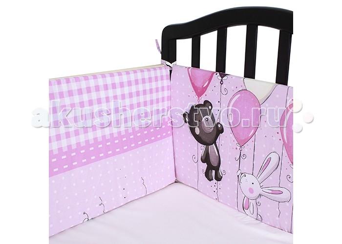 Постельные принадлежности , Бортики в кроватку Idea Kids Шарики арт: 433624 -  Бортики в кроватку