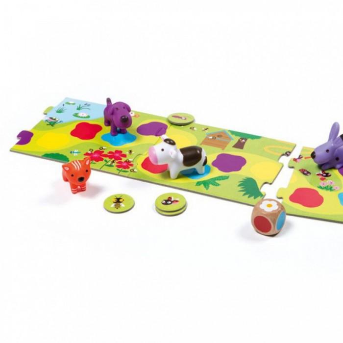 Игры для малышей Djeco Настольная игра Маленькая дорожка игры для малышей djeco игра пары цифры