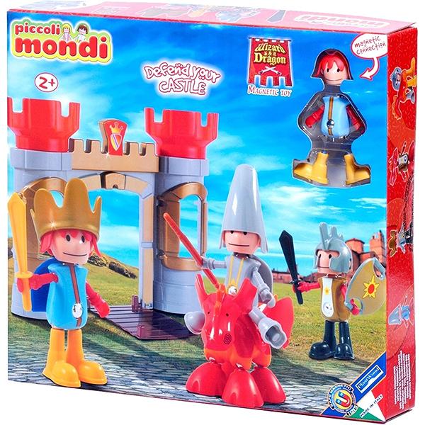 Конструктор Plastwood Piccoli Mondi Wizard &amp; DragonPiccoli Mondi Wizard &amp; DragonPlastwood Piccoli Mondi Wizard & Dragon - это замечательный магнитный конструктор, из деталей которого можно собрать крепость с двумя башнями и опускающимися воротами, доблестных рыцарей и свирепого дракона.   Данный набор подарит массу положительных эмоций вашему ребенку. Он способствует развитию логического и пространственного мышления, а также мелкой моторики.  Возраст ребенка: 2+ Количество деталей: 33  В КОМПЛЕКТЕ: Королевская крепость Король с мечом Рыцарь с мечом и щитом Волшебник, дракон Игровое поле 94х68 см.<br>