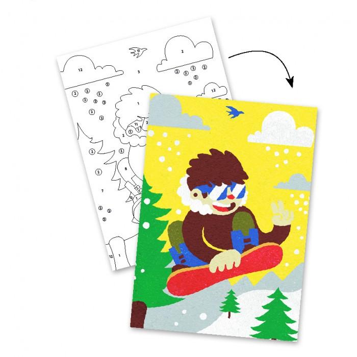 Картины своими руками Djeco Набор цветного песка Скейтборд картины своими руками фабрика фантазий картина из песка самолет