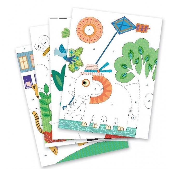 Творчество и хобби , Картины своими руками Djeco Набор цветного песка На природе арт: 433699 -  Картины своими руками