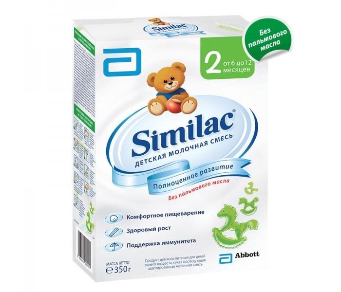Молочные смеси Similac Молочная смесь 2 с 6-12 мес. 350 г similac смесь педиашур малоежка similac со вкусом банана 200 мл