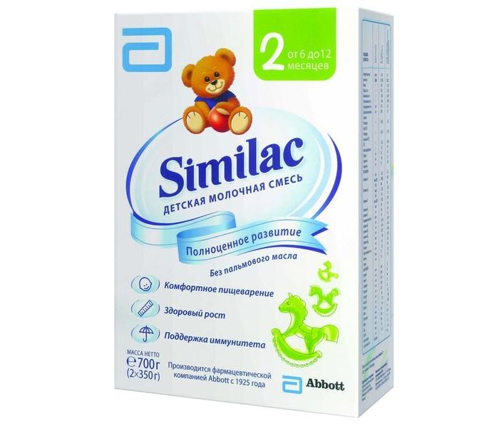 Молочные смеси Similac Молочная смесь 2 с 6-12 мес. 700 г similac смесь педиашур малоежка similac со вкусом банана 200 мл