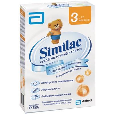Молочные смеси Similac Молочная смесь 3 с 12 мес. 350 г similac смесь педиашур малоежка similac со вкусом банана 200 мл