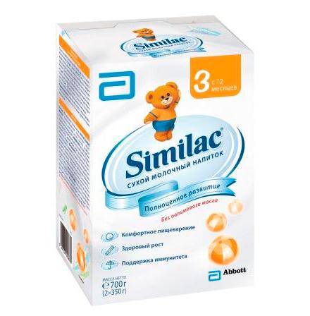 Молочные смеси Similac Молочная смесь 3 с 12 мес. 700 г similac смесь педиашур малоежка similac со вкусом банана 200 мл