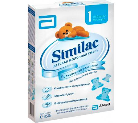 Молочные смеси Similac Молочная смесь 1 0-6 мес. 350 г similac смесь педиашур малоежка similac со вкусом банана 200 мл