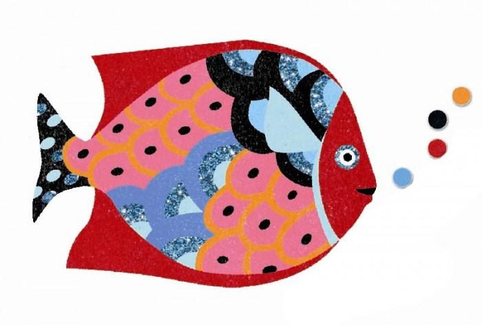Творчество и хобби , Картины своими руками Djeco Набор цветного песка Радужные рыбки арт: 434054 -  Картины своими руками
