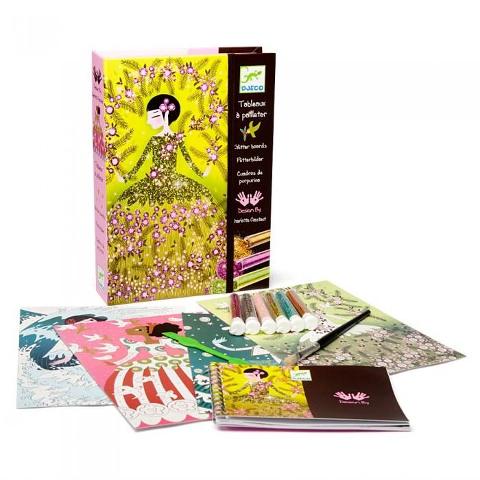 Наборы для творчества Djeco Набор для творчества Блестящие платья набор для творчества помпон djeco набор для творчества помпон