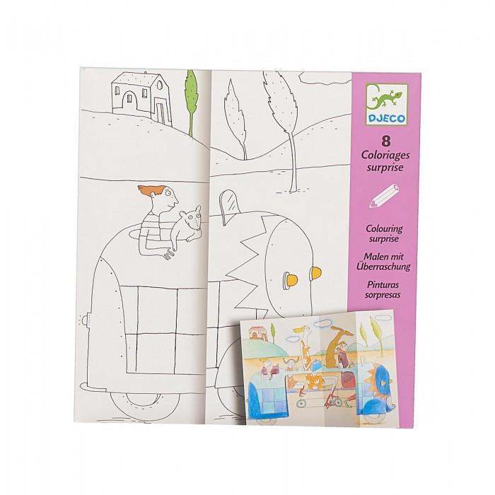 Раскраски Djeco Набор для творчества Прятки набор для творчества помпон djeco набор для творчества помпон
