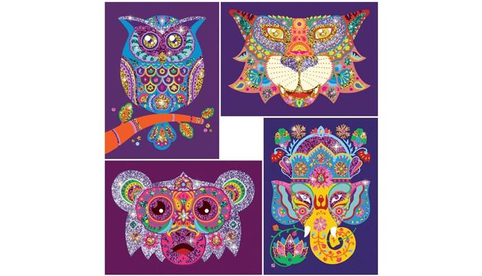 Наборы для творчества Djeco Набор для творчества Блестящие животные набор для творчества помпон djeco набор для творчества помпон