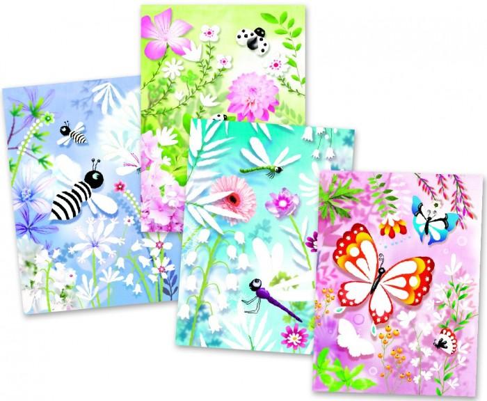 Купить Наборы для творчества, Djeco Набор для творчества Блестящие бабочки