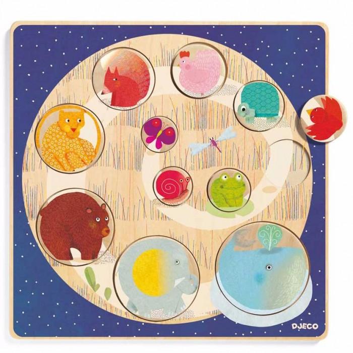 Деревянные игрушки Djeco рамка-вкладыш Запомни размер пазлы бомик вкладыш бабочки