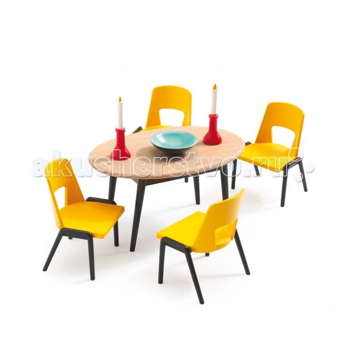 Кукольные домики и мебель Djeco Мебель для кукольного дома Столовая