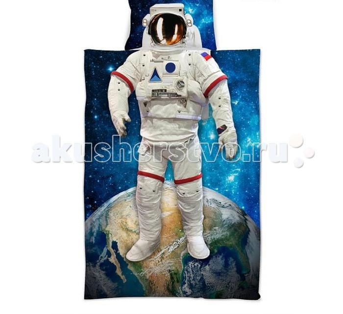 Постельные принадлежности , Постельное белье 1.5-спальное Sleep & Smile Космонавт 1,5-спальное арт: 434354 -  Постельное белье 1.5-спальное