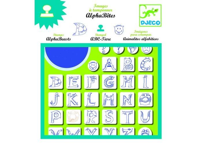 Принадлежности для рисования Djeco Набор штампов Алфавит djeco набор штампов алфавит