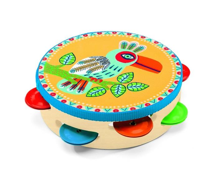 Музыкальные игрушки Djeco Тамбурин 06005 музыкальные игрушки стеллар музыкальные игрушки набор 1