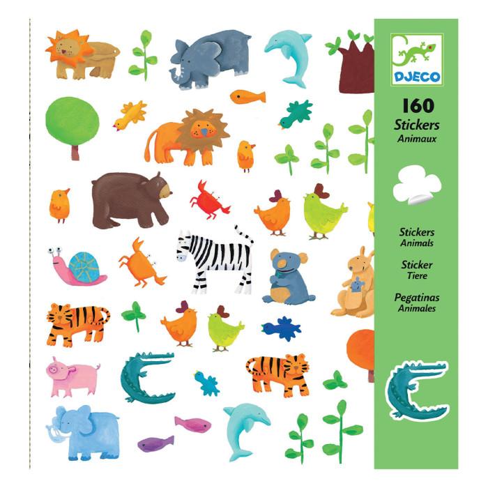 Детские наклейки Djeco Наклейки Животные животные антистресс альбом