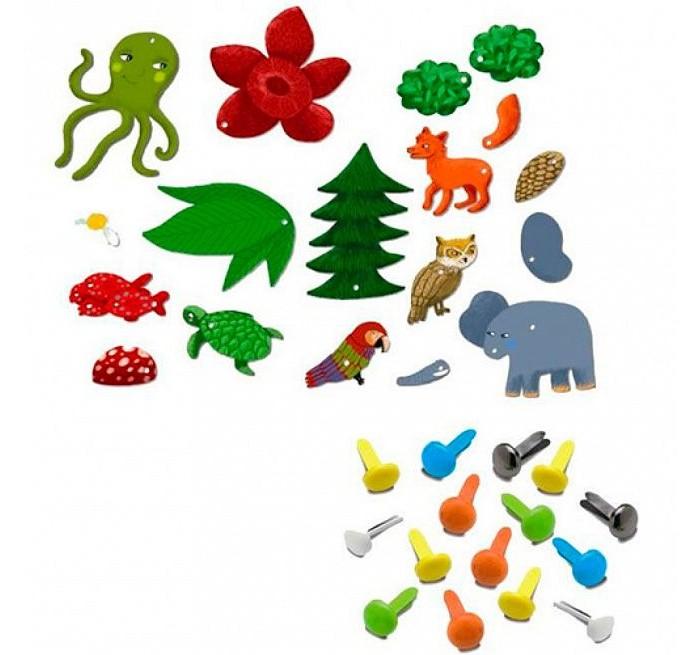Наборы для творчества Djeco Набор для творчества с кнопками Зверюшки наборы для творчества djeco набор для творчества цветочная гармония
