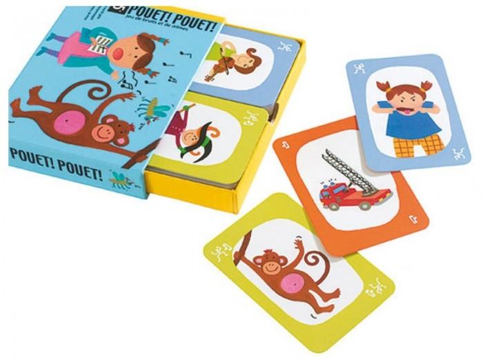 Настольные игры Djeco Детская настольная карточная игра Пантомима настольные игры djeco настольная игра желтый карлик