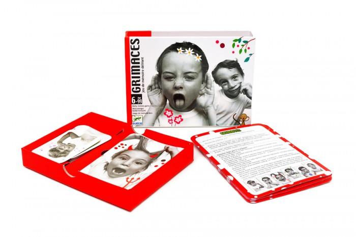 Игры для школьников Djeco Детская настольная карточная игра Гримасы
