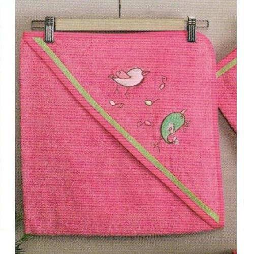 Полотенца Kidboo Комплект полотенце-уголок + варежка Singer Birds полотенца kidboo комплект полотенце уголок варежка butterfly
