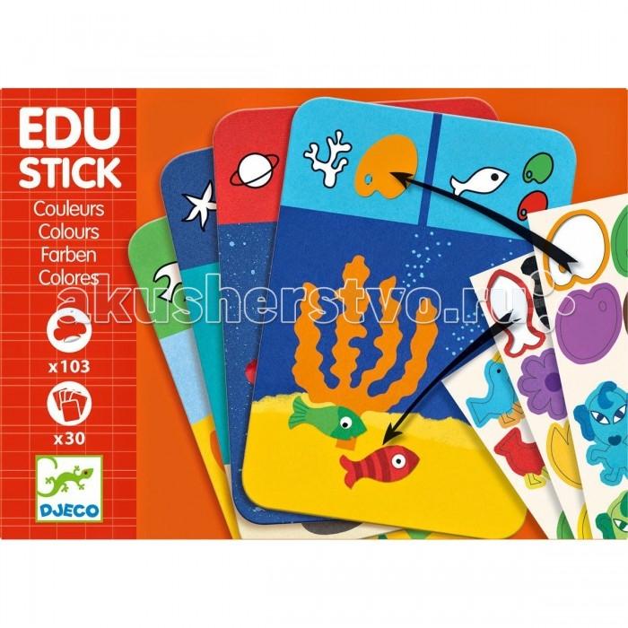 Детские наклейки Djeco Обучающие наклейки Цвета улыбка обучающие карточки игрушки