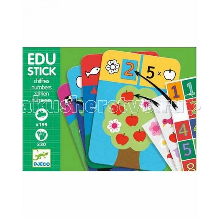 Детские наклейки Djeco Обучающие наклейки 1,2,3 улыбка обучающие карточки игрушки