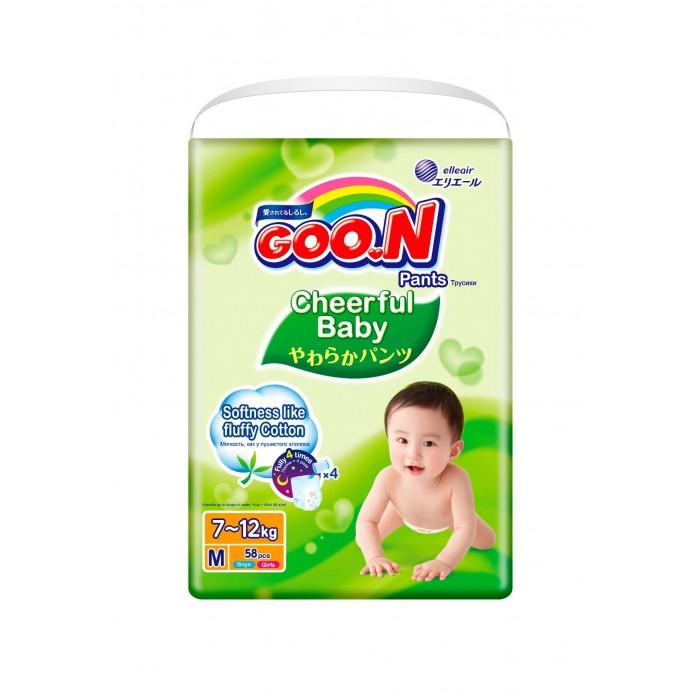 Гигиена и здоровье , Подгузники GooN Cheerful Baby Подгузники-трусики M (6-11 кг) 58 шт арт: 435629 -  Подгузники